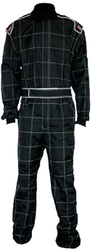 K1 Race Gear 10003010 Black XXXXXXX-Small Level 1 Karting Suit ()