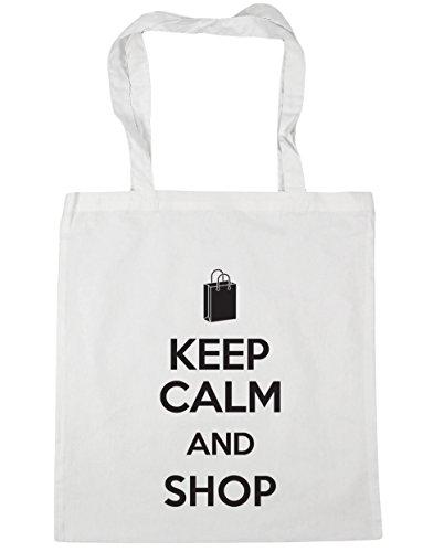 litres Shop Bag Beach Gym 42cm and White Keep Tote Shopping Calm HippoWarehouse x38cm 10 7q1T0