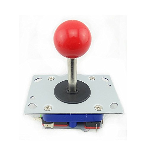 BLEE 4/8 Way Adjustable Arcade Joystick PC Fighting Stick Parts for Video Game Arcade (Red Ball,48mm stick (Joystick Video Games)