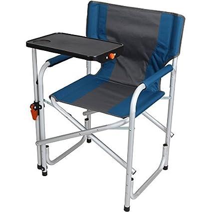 Amazing Amazon Com Aluminum Directors Chair With Swivel Desk Inzonedesignstudio Interior Chair Design Inzonedesignstudiocom