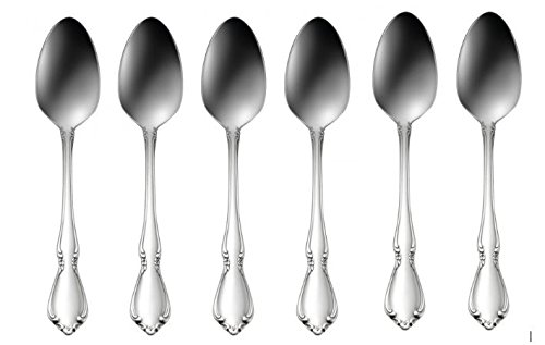 Oneida Stainless Steel Spoon - Oneida Chateau Teaspoons - Set of 6, Stainless Steel 18/8