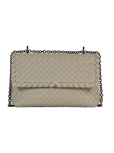 bottega-veneta-womens-405739v00161562-grey-leather-shoulder-bag