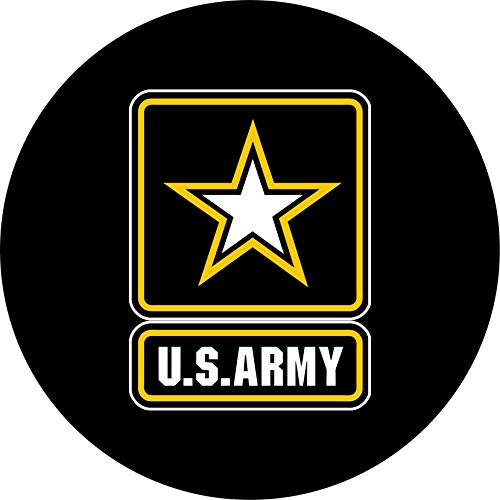 TIRE COVER CENTRAL Army Spare Tire Cover for 215/75R15 fits Camper, Jeep, RV, Scamp, Trailer(Drop Down Size menu