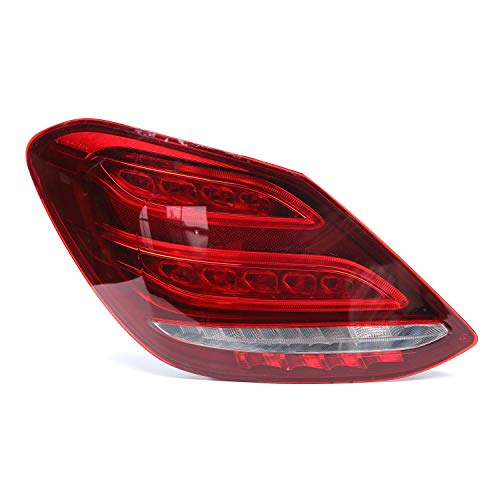 laiyoulaibao Driver Side Full LED Brake Reverse taillight, Rear Stop Lamp with LED Bulbs Assembly Replacement for Benz W205 C-Class 2015-2018, 1 Pc Left Tail Light Lamp