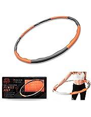 Phoenix Fitness 1,4 kg gewogen schuim gewatteerde fitness hoepel - 96 cm oefening fitness ring - golf groef ontwerp hula hoepel voor core balans en versterking