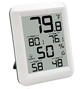 Digital termómetro higrómetro humedad Monitor interior Monitor de humedad y temperatura con indicador de humedad