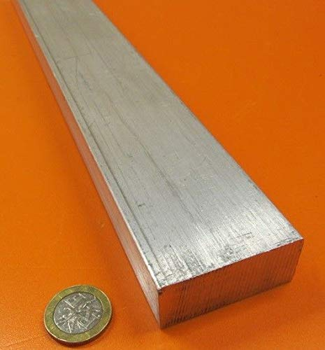 JumpingBolt 6061 T651 Aluminum Bar, 7/8'' (.875'') Thick x 2.0'' Wide x 48'' Length Material May Have Surface Scratches (Diamond 0.875')