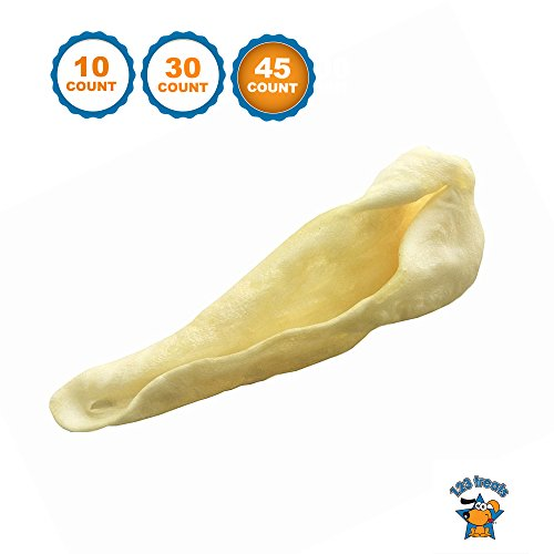 123 Treats | Lamb Ear Dog Chews (45 Count) USDA approved | All Natural Free Range Lambs | Quality ears for dogs | Packed in the USA