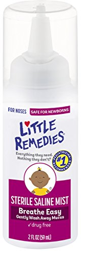 Little Remedies Sterile Saline Mist | 2 oz | Pack of 1 | for Noses to Breathe Easily | Gently Wash Away Mucus | Newborn Safe