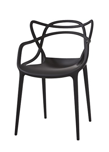 Amazon Com Kartell Masters Chair Pack Of 2 Black