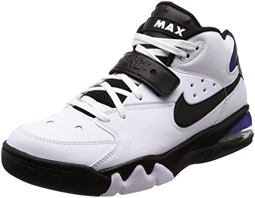Nike Men's Air Force Max Fitness Shoes Multicolour (White/Black-cobalt 100) eaBrXO