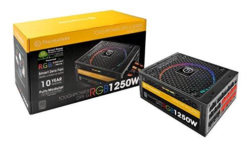 er DPS G RGB 1250W Digital 80+ Titanium Smart Zero 256-Color RGB Fan Fully Modular ATX 12V 2.31/EPS 12V 2.92 Power Supply 10 YR Warranty PS-TPG-1250DPCTUS-T ()