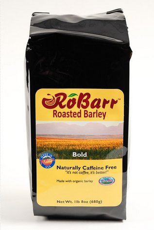 RoBarr Bold Roasted Organic Barley, 1lb 8oz, Natural Beverage Drink, Coffee and Tea Substitute, Caffeine Free, Compare to Postum or Pero, No Additives or Preservatives, Sustainably Made