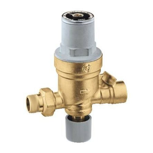 Caleffi 553549A AutoFill Automatic Boiler Fill Valve, Pressure Indicator, 1/2-Inch Sweat Inlet by 1/2-Inch