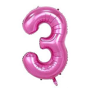 ShopVip Globos de cumpleaños - número 3 - Decoración ...