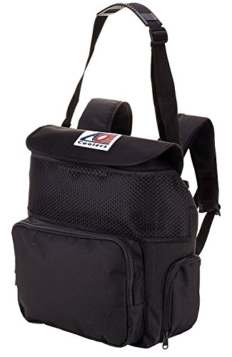 AO Coolers Backpack Soft Cooler with High-Density Insulation, Black, 18-Can
