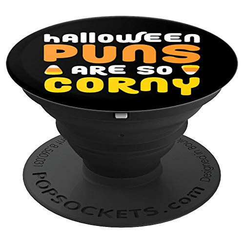 Halloween Puns Are So Corny | Funny Candy Corn Joke Saying PopSockets Grip and Stand for Phones and Tablets