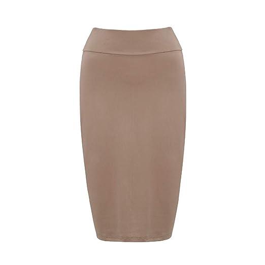 Falda de Mujer de Moda Falda lápiz clásica Falda elástica de Mujer ...