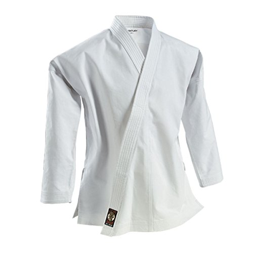 Century Martial Arts 14 oz. Traditional Ironman Heavyweight Martial Arts Karate Jacket - White, 5 - Adult Large