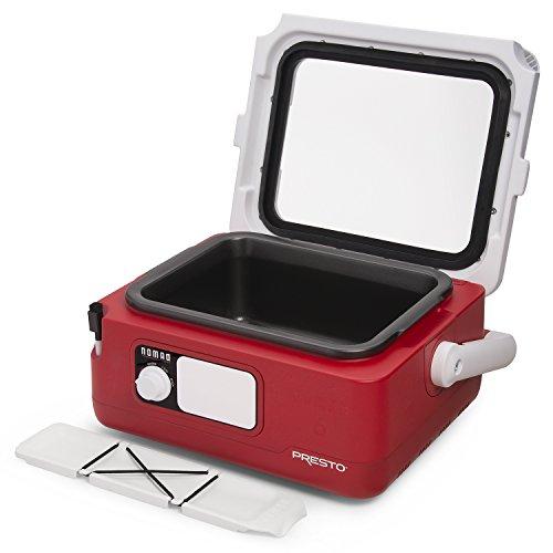 Presto 06011 Nomad 6-quart Traveling Slow Cooker, Red