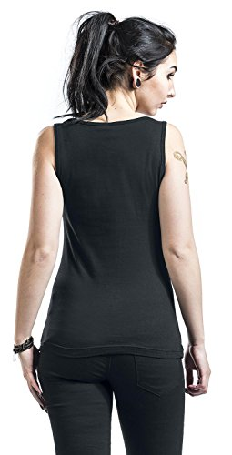 My Favourite Colours Top Mujer Negro Negro
