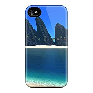 Durable Defender Cases For Iphone 6 Plus Tpu Covers(3d Island)