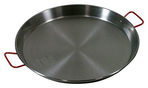 Paella Pfanne Stahl poliert 50cm Durchmesser, Original aus Spanien!