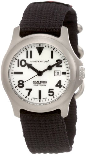 Momentum Women's 1M-SP01W8B Atlas White Dial Re-Ply Nylon Strap Watch