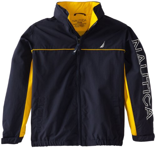 Nautica Big Boys' Anchor Jacket, Sport Navy, Medium
