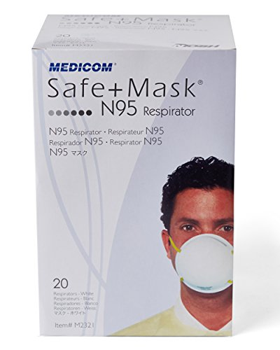 SafeMask White Cone N-95 Particulate Respirator Mask With Adjustable Elastic And Maximized Air Chamber For Comfortable Breathing (20) by SafeMask®