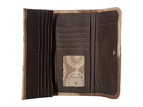 West Hobo Leather Entry Carry Concealed American Dual Wallet Sand WwvR0aFwq