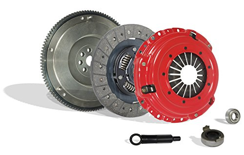 (Clutch With Flywheel Kit Works With Acura Integra Civic Si Del Sol Cr-V Gs Ls Ex Lx Type R Gs-R VTEC Special 1994-2001 1.6L L4 1.8L l4 GAS DOHC Naturally Aspirated (Flywheel Spec: .112+; Stage 1))