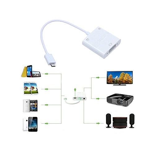 Walmeck USB MHL to VGA and 3.5mm Audio Adapter + Micro 5pin Adapter for Smartphone by Walmeck (Image #1)