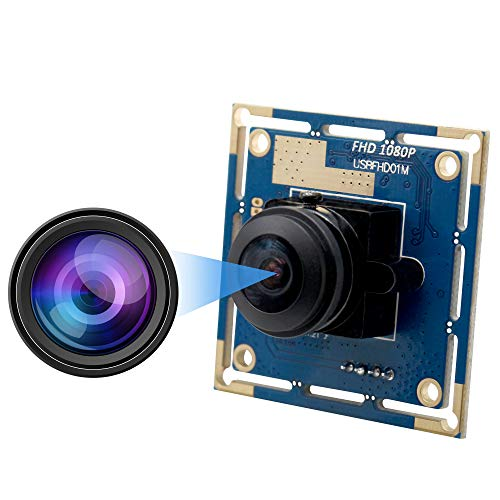 High fps Fisheye USB Camera Module with CMOS OV2710 Image Sensor Full HD 1080P USB2.0 Web Camera,Wide Angle USB with Camera with High Frame Rate640X480@100fps,UVC for Use in Android Windows Linux Max (Best High Speed Camera For Golf)
