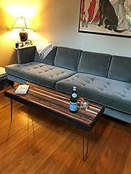Beautiful striped coffee table mid centu...