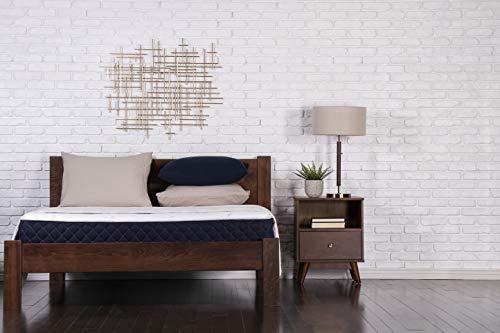 "Brooklyn Bedding Bowery 10"" Medium Comfort Hybrid Mattress, Queen, Navy"