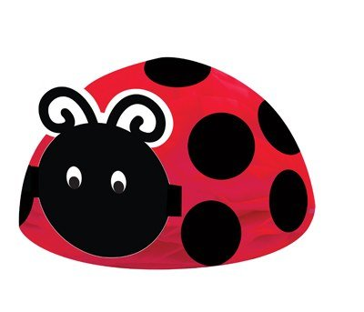 Pack of 6 Red and Black Ladybug Fancy Honeycomb Centerpieces 12