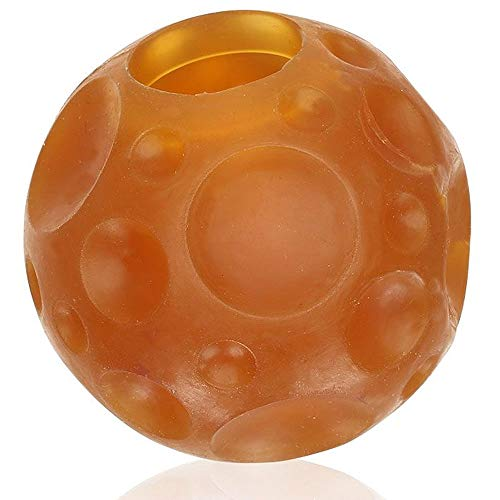 HEVEA Moon Ball, Treat Ball Dog Toy is Made from 100% Natural Rubber, 2.5