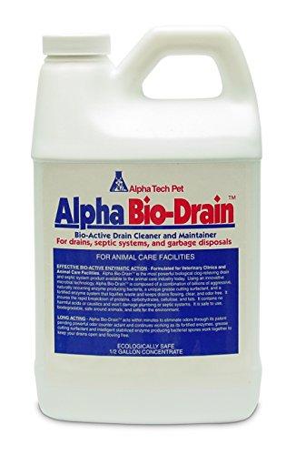 Alpha Tech Pet Bio-Drain, Drain Maintenance and Odor Eliminator, 1/2 Gallon - Biodrain