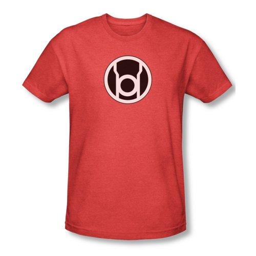 Green Lantern DC Comics Red Lantern Logo Adult Heather T-Shirt Tee