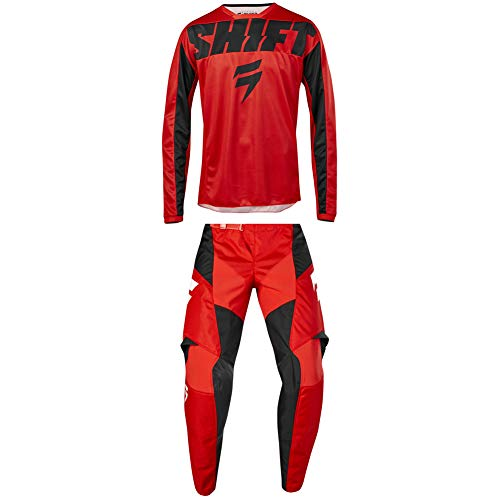 Shift Racing 2019 Kids Youth WHIT3 Label York Jersey and Pants Combo - RED - S/22W
