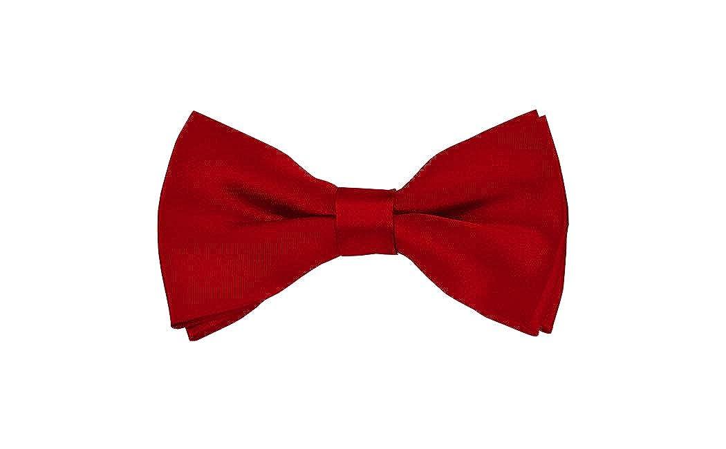 Solid Crimson Mens Pre-Tied Bow Tie