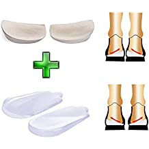 Orthopedic Insoles Shoe Inserts Medial & Lateral Heel Wedge Lift Silicone Pads Corrective O/X Type Leg
