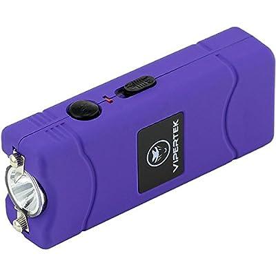 VIPERTEK VTS-881 - 38,000,000 V Micro Stun Gun - Rechargeable with LED Flashlight, Purple