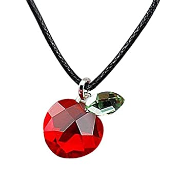 Amazon tirio swarovski elements crystal red apple pendant tirio swarovski elements crystal red apple pendant necklace mozeypictures Image collections