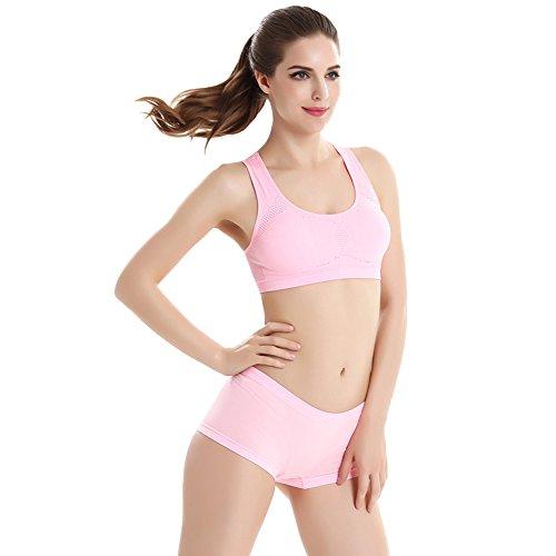 Running Bra Di Senza a Stile Tute Mutandine Fitness Intimo Sportivo Donna Soluzione Gilet Bozevon 1 Continuità 8qTUwvXnx