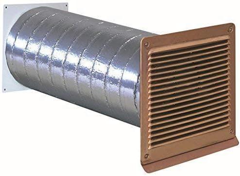 568338 - Rejilla de salida de aire (125 mm de diámetro, cobre, con válvula antirretorno): Amazon.es: Grandes electrodomésticos