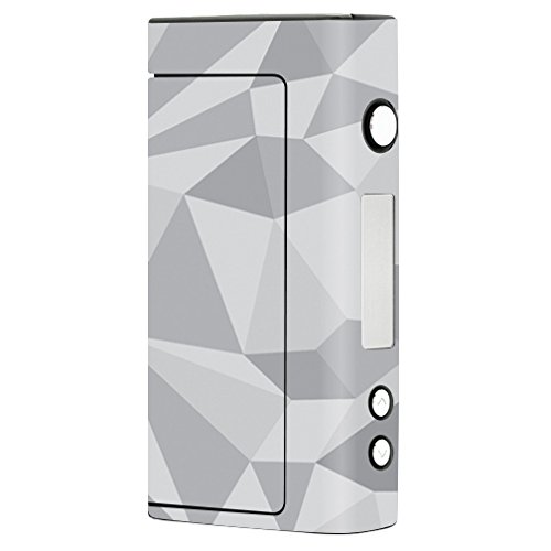 MightySkins Skin Compatible with Sigelei Fuchai 200W TC - Gray Polygon |  Protective, Durable, and Unique Vinyl Decal wrap Cover | Easy to Apply,