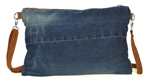 Lae In - Cartera de mano de algodón para mujer S Stone Washed (camel)