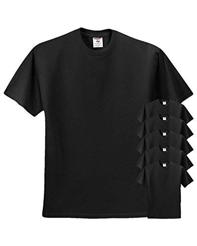 Jerzees 5.6 Oz, 50/50 Heavyweight Blend T-Shirt (29M)- Black,Large